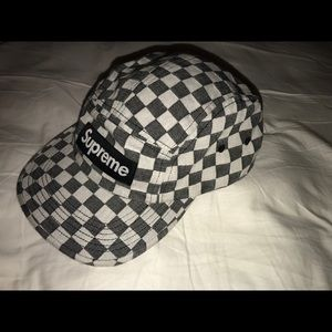 Supreme Checkered cap hat